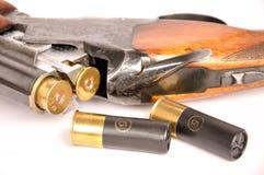 Doppio fucile da caccia del barilotto Fotografia Stock