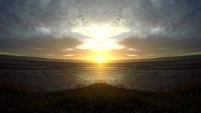 Doppio lasso di tempo sopra lo sguardo del mare di Irlanda archivi video