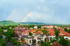 Doppio Rainbow Immagini Stock