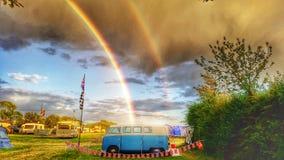 Doppio Rainbow Fotografie Stock Libere da Diritti