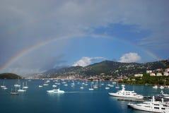 Doppio Rainbow Charlotte Amalie Thomas santo Fotografie Stock Libere da Diritti