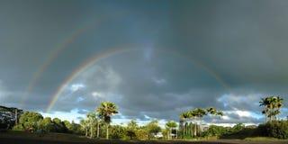 Doppio Rainbow parziale Fotografia Stock