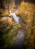 Doppio specchio olandese del laminatoio di acqua a fiume-Eindhoven Immagine Stock