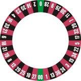 Doppio zero della rotella delle roulette Fotografia Stock