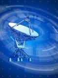 Doppler radar & blue radial technology background Royalty Free Stock Images