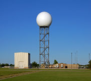 Doppler radar dome Royalty Free Stock Photo
