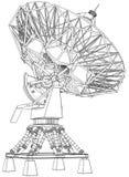 Doppler-Radar: technischer abgehobener Betrag Lizenzfreie Stockfotografie