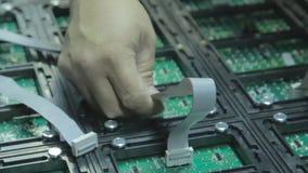 doprowadziło do ekranu Awaria microcircuits prowadzący ekran w warsztacie zbiory wideo