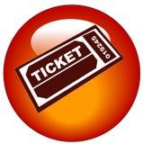 dopuszczenie ikony bilet Obraz Royalty Free