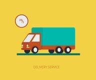 Doręczeniowa ciężarówka royalty ilustracja