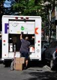 doręczeniowa Fedex mężczyzna nyc ciężarówka
