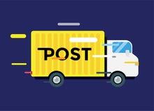 Doręczeniowa wektor ciężarówka usługowy Samochód dostawczy Sylwetka Fotografia Royalty Free