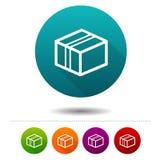 Doręczeniowe pakunek ikony Wysyłać znaki Wektorowi okrąg sieci guziki Obraz Royalty Free