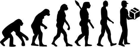 Doręczeniowego mężczyzna ewolucja royalty ilustracja