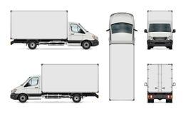 Doręczeniowego samochodu dostawczego szablon ilustracja wektor