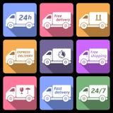 Doręczeniowej ciężarówki ikony Zdjęcie Stock