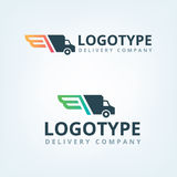 Doręczeniowej firmy logo Uskrzydla logotyp Doręczeniowy samochód Zdjęcia Royalty Free