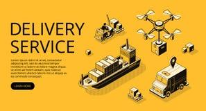 Doręczeniowej usługa transportu wektoru ilustracja royalty ilustracja