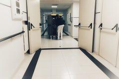 Doręczeniowi posiłki szpital fotografia royalty free