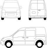 doręczeniowy mały samochód dostawczy Ilustracja Wektor