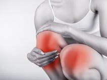 Dor aguda no joelho Imagem de Stock