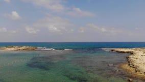 Dor Beach en Israel septentrional almacen de video