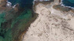 Dor Beach en Israel septentrional almacen de metraje de vídeo