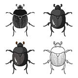 Dor-beetle icon in cartoon style isolated on white background. Insects symbol stock vector illustration. Dor-beetle icon in cartoon design isolated on white Stock Images