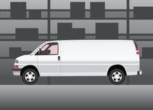 doręczeniowego samochód dostawczy biel Ilustracja Wektor