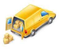 doręczeniowy samochód dostawczy ilustracji