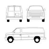 Doręczeniowy samochód dostawczy Royalty Ilustracja