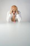 Dor da dor de cabeça Fotos de Stock Royalty Free