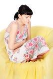 Dor da menstruação Fotografia de Stock Royalty Free