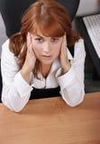 Dor da mulher de negócios Fotos de Stock Royalty Free