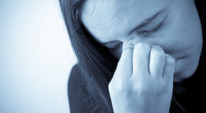A dor das alergias Foto de Stock Royalty Free