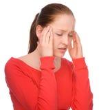 Dor de cabeça foto de stock