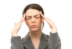 Dor de cabeça imagem de stock