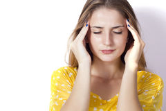 Dor de cabeça Fotografia de Stock