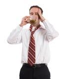 Dor de cabeça da cafeína fotos de stock royalty free