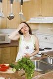 Dor de cabeça da cozinha fotos de stock royalty free