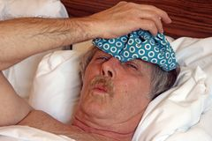 Dor de cabeça da enxaqueca Fotografia de Stock