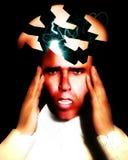 Dor de cabeça de rachadura 17 Fotografia de Stock