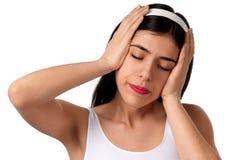Dor de cabeça - dor Imagens de Stock