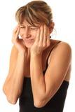 Dor de cabeça, dor principal Fotografia de Stock Royalty Free