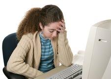 Dor de cabeça dos trabalhos de casa Imagem de Stock
