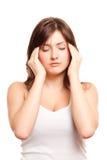 Dor de cabeça, migrene Fotos de Stock