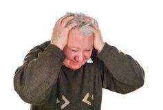 Dor de cabeça ruim Imagens de Stock