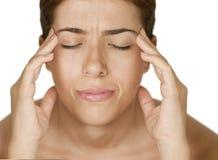 Dor de cabeça Imagens de Stock