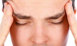Dor de cabeça forte Imagens de Stock