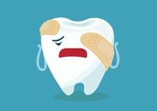Dor de dente ilustração do vetor